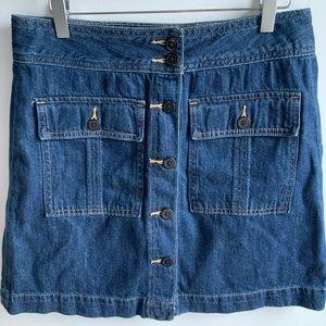 2 for $20 GAP button front denim mini skirt